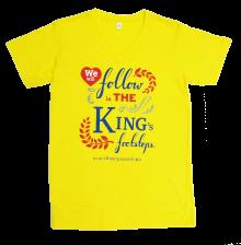 เสื้อวันพ่อ2558,เราจะเดินตามรอยเท้าพ่อ,เสื้อเหลือง